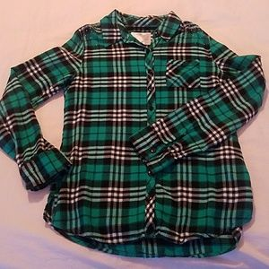 Justice long sleeve flannel